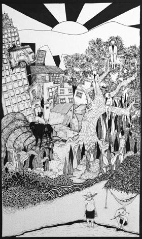 Luis Cervantes Jurado Wine Label Artwork